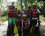 on the way for rafting in Pekalen river