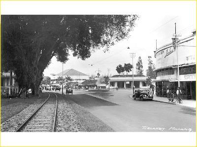 Tram track in Celakat, Malang
