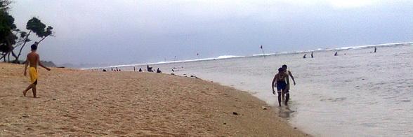 Sandy Balekambang beach, Malang