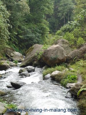 Amprong river from Coban Pelangi in Malang