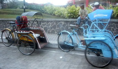 pedicabs in Malang