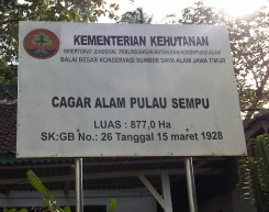Board of Nature Preserve in Pulau Sempu