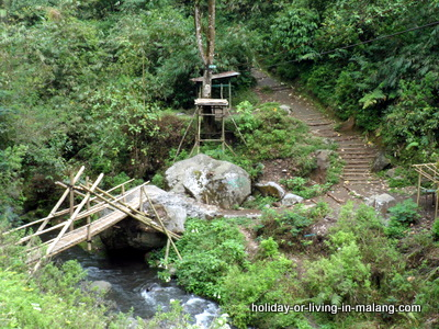 Bridge over Amprong river in Malang