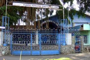 Closed Ceramic factory in Malang