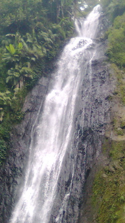 Coban Ondo waterfall at the right side