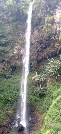 Coban Ondo waterfall at the left side