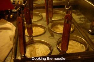 Cooking noodle at Mie Setan in Malang