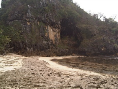 "Green Cave at Pasir Panjang beach"" title="