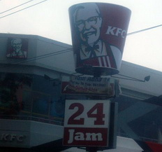 Kentucky Fried Chicken restaurant in Malang