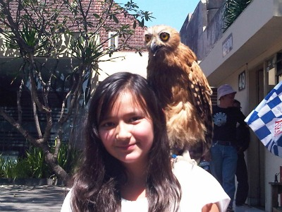 Monica and owl