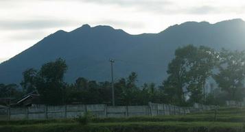 A mountain view from Villa Puncak Tidar Malang