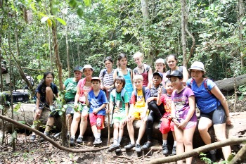 "Our group to beaches in Sempu island"" title="