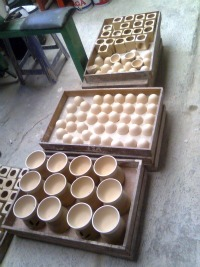 The ceramic are ready to be baked