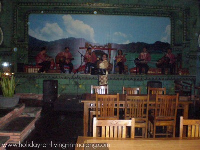 The stage at Inggil restaurant in Malang