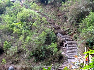 Stairs to Coban Pelangi in Malang