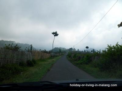 The way to Coban Pelangi in Malang