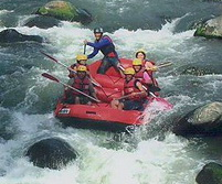 rafting in Pekalen river