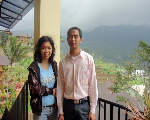 Me and Mr. Imam the marketing of Jambuluwuk Resort Batu
