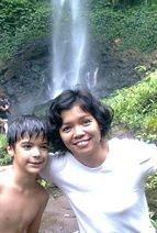Anugerah & Kindeng at coban Ondo waterfall