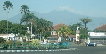 mountain view from a street in Malang
