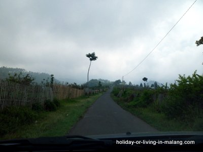 The way to Coban Pelangi in Malang